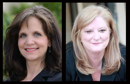 Susan Hightower (left) will face Margie Wilcox in a runoff election Dec. 10 for Alabama House District 104.