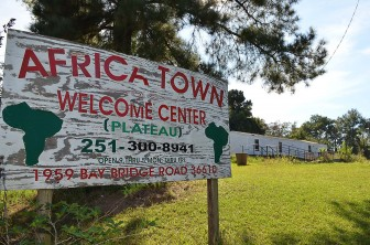 The former AfricaTown Welcome Center on Bay Bridge Road.