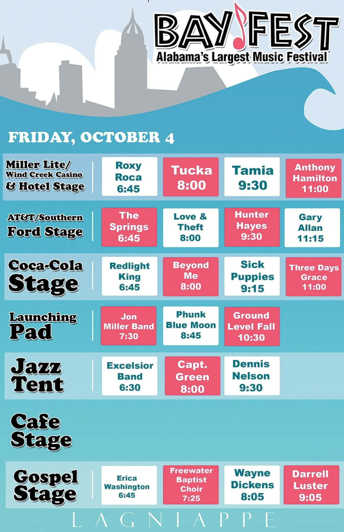 Bayfest band bios and schedule, Friday, Oct. 4 (UPDATED)