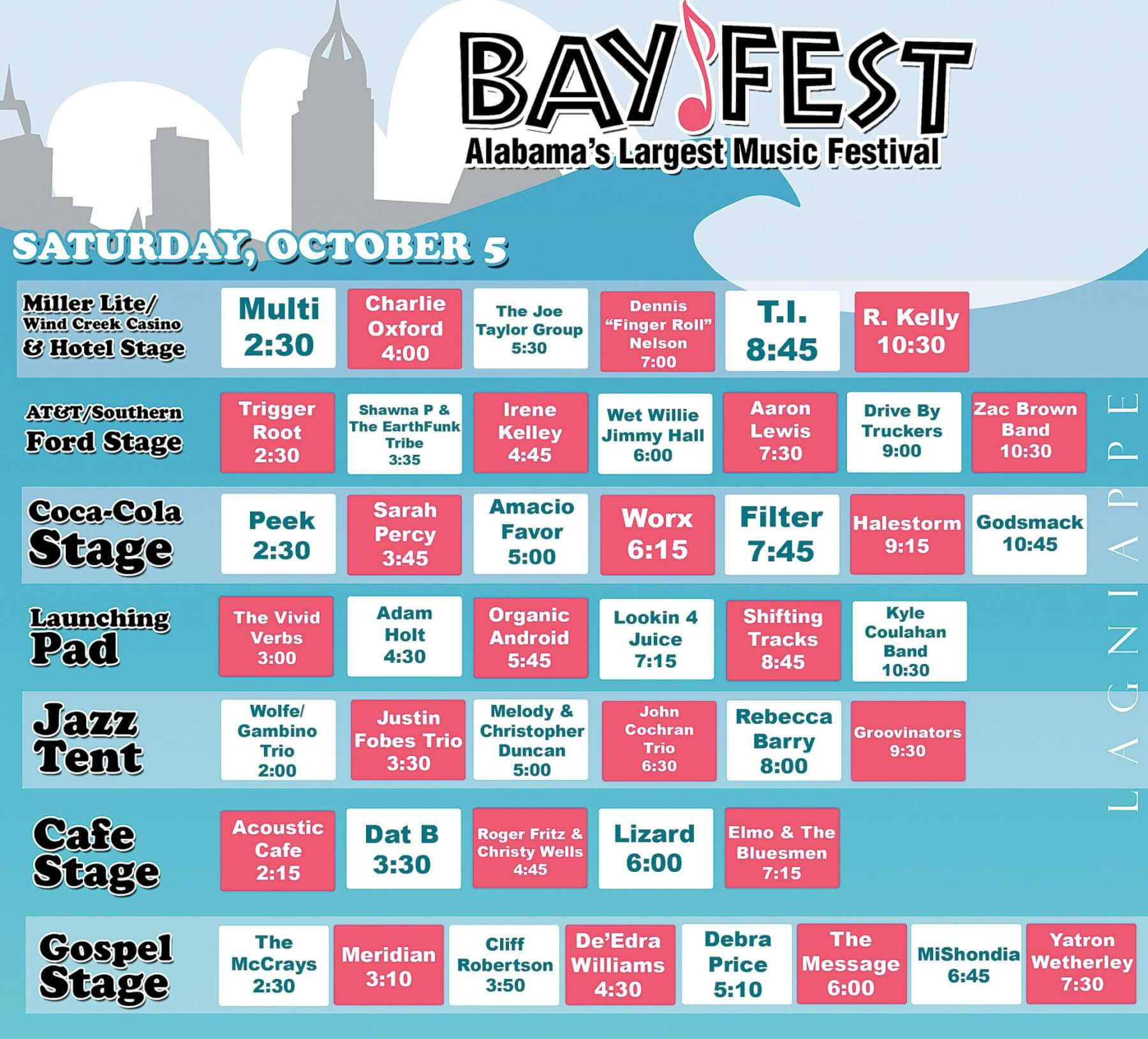 Bayfest band bios and schedule, Saturday, Oct. 5 (UPDATED)