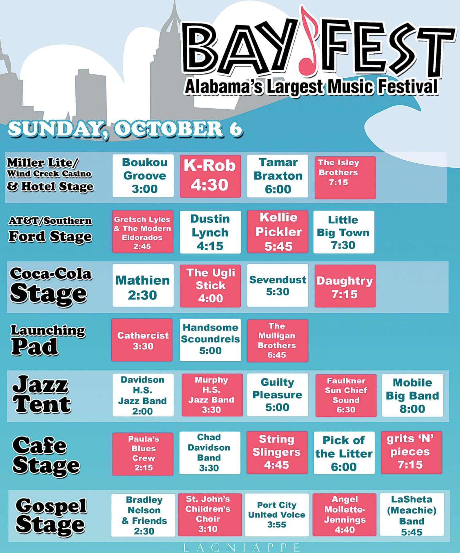 Bayfest band bios and schedule, Sunday Oct. 6 (UPDATED)