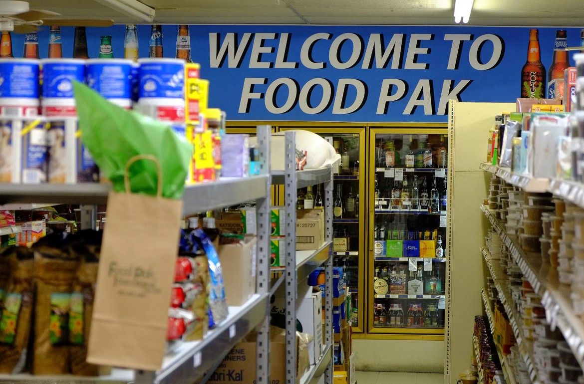 Food Pak has a large inventory of ethnic food and drink that is hard to find elsewhere in the city.