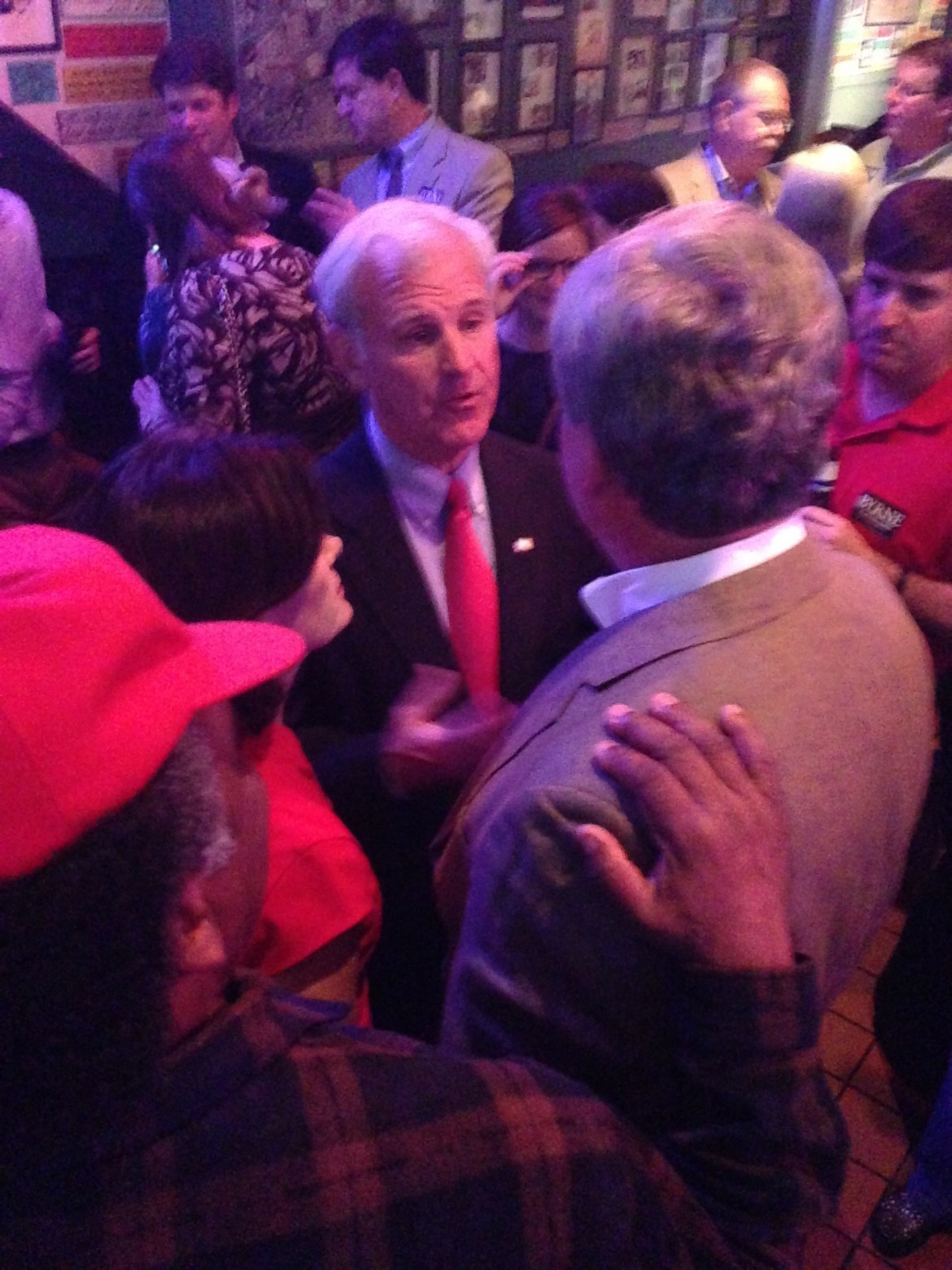 Bradley Byrne thanks supporters on Nov. 5 after he defeated Dean Young in the Alabama District 1Congressional Republican runoff.