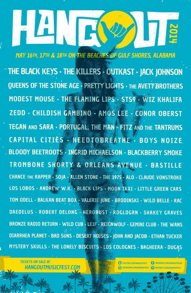 Hangout Fest announces 2014 line-up; The Black Keys, The Killers, Jack Johnson, The Avett Brothers headline