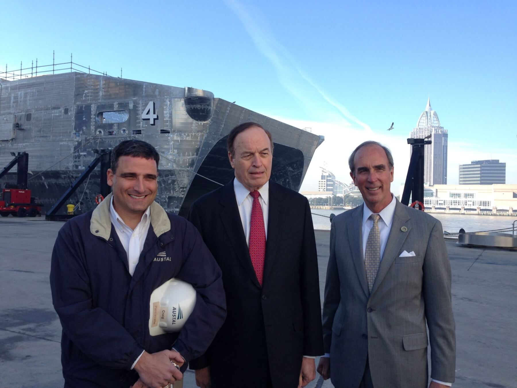 Shelby makes a stop at Austal; addresses LCS contract, port study and new federal courthouse