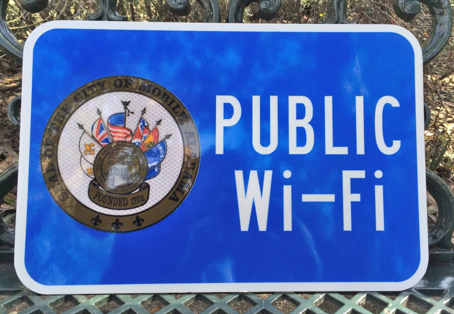 Public Wi-Fi available at Bienville and Cathedral squares