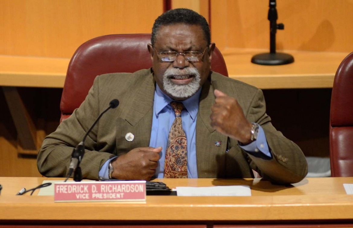 Councilman Fred Richardson denied any budgetary problems from past administrations were responsible for current financial problems.
