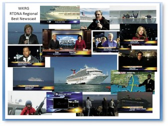 The WKRG News Team took home a prestigious Edward R. Murrow Award recently for their coverage of the Carnival Cruise Ship's arrival in Mobile last year.