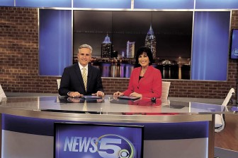 "WKRG's new set blends high tech and ""Old Mobile."""