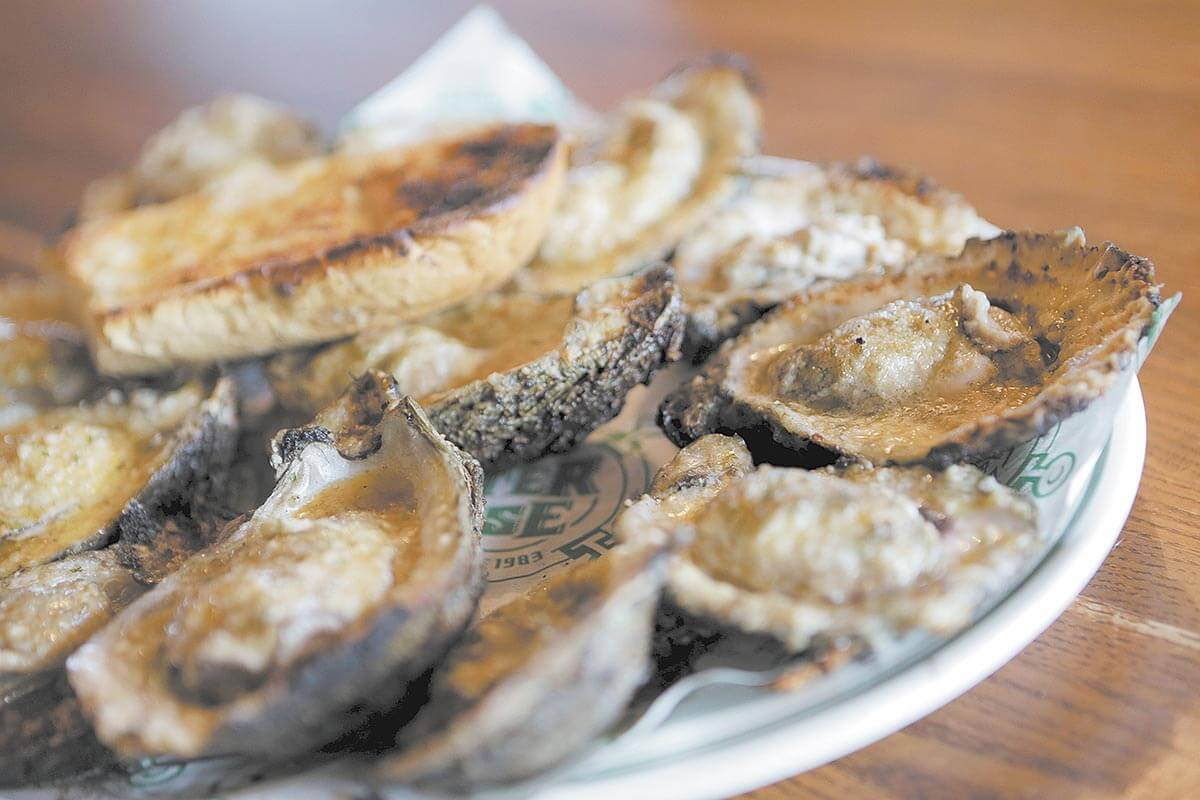 Holy bivalves! Fire-grilled oysters on closed circuit