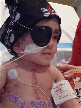 Troupe Trice recovering after his heart transplant in 2007 and having a little fun as a pirate.