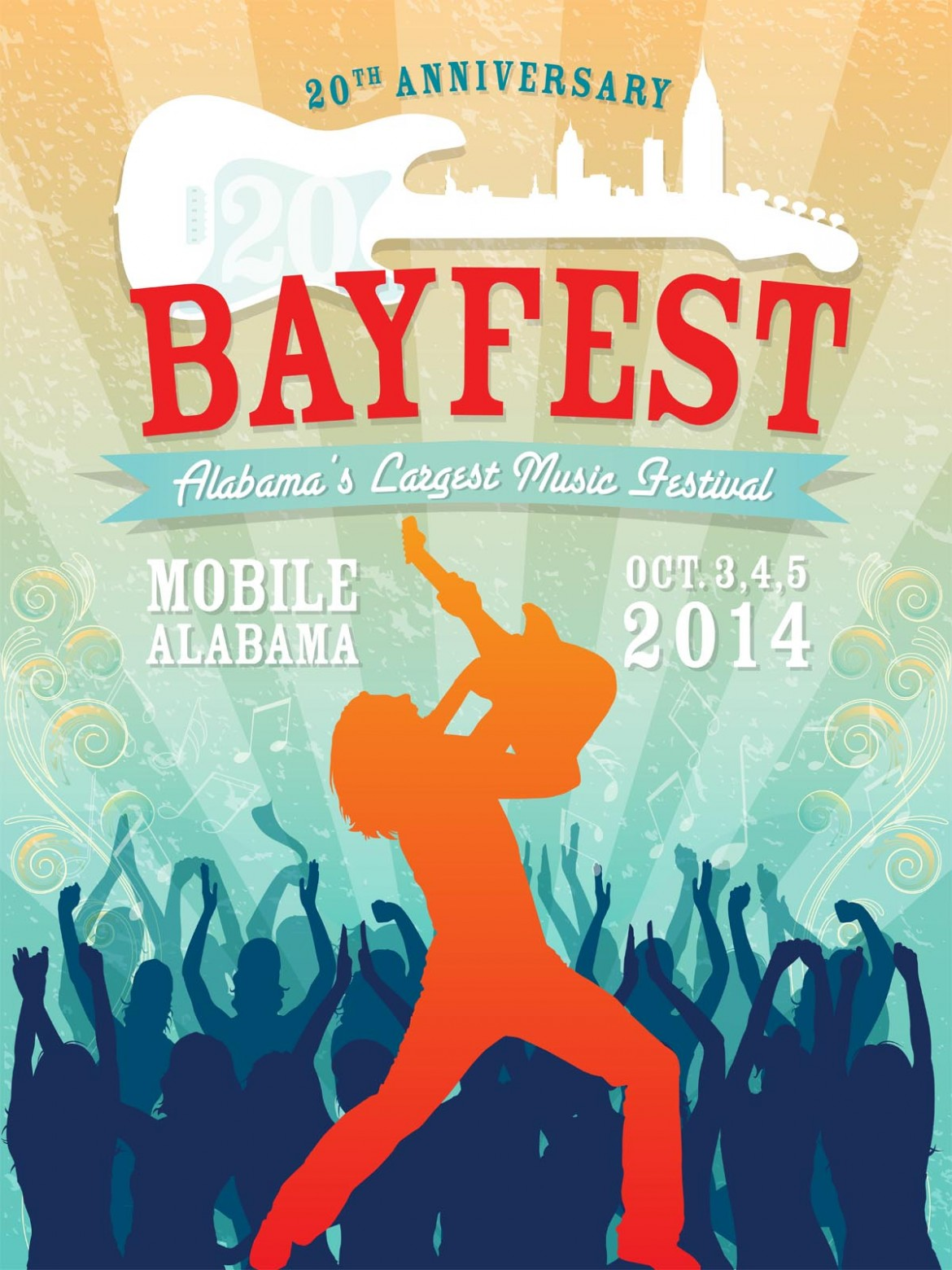 The official artwork for Bayfest 2014 was created by Carl Norman.