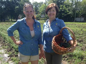 "Tarrant Lanier (left) and Cathy O'Neal find their work on Victory Teaching Farm a ""labor of love."""