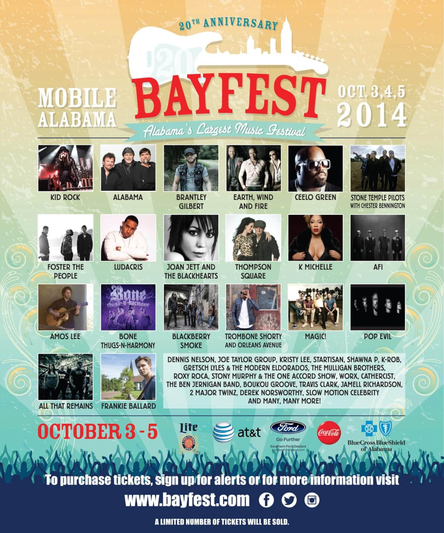 BayFest 2014 gets 'badass' with Kid Rock, Alabama, CeeLo and others
