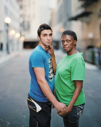 "Richard Renaldi's series ""Touching Strangers"" creates intimate moments between subjects who are unknown to each other."