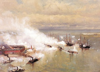 Julian Oliver Davidson's depiction of the Battle of Mobile Bay will appear on a U.S. Postal stamp.