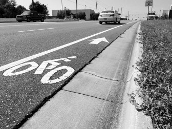 Mobile's only designated bike lane is a .8-mile stretch along Hillcrest Road.