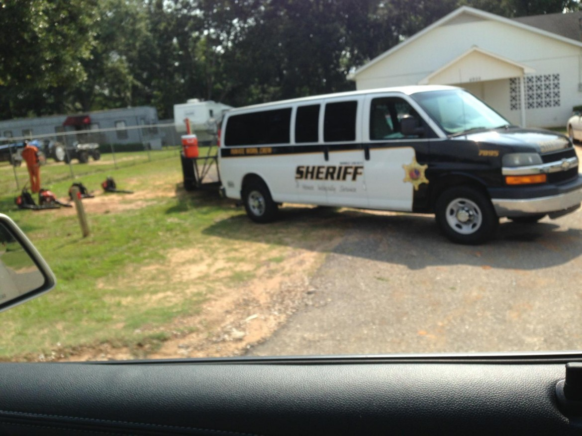 County inmates were photographed mowing the lawn on private property earlier this week. Since, the Sheriff's Office has said the practice has ended.