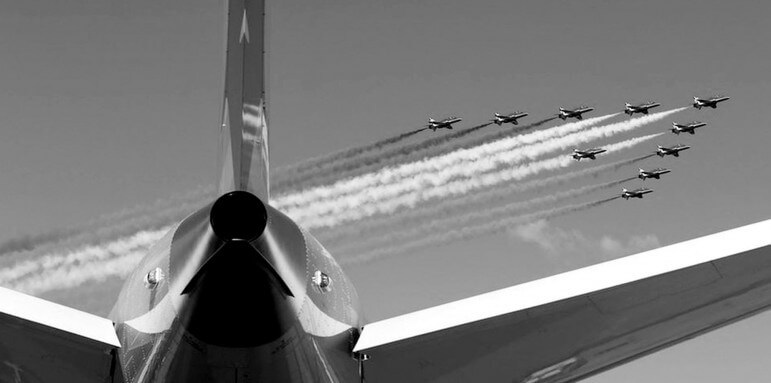 Flight demonstrations and business deals are the centerpiece of the annual Farnborough International Airshow near London.