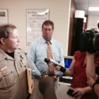 Lieutenants Richard Cayton and Paul Burch with the Mobile County Sheriff's Office presented a complaint against the county to the Mobile County Personnel Board Aug. 21.