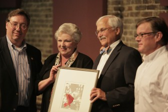 Harold and Carlos Parkman were honored for their patronage at the recent Mobile Art Awards. Similar efforts might be in greater demand if the city budget slices arts funding.