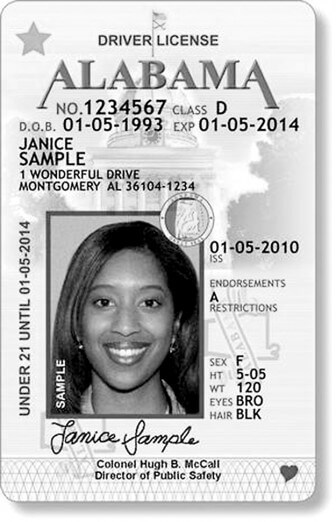 Alabama's new STAR ID meets federal guidelines for security.