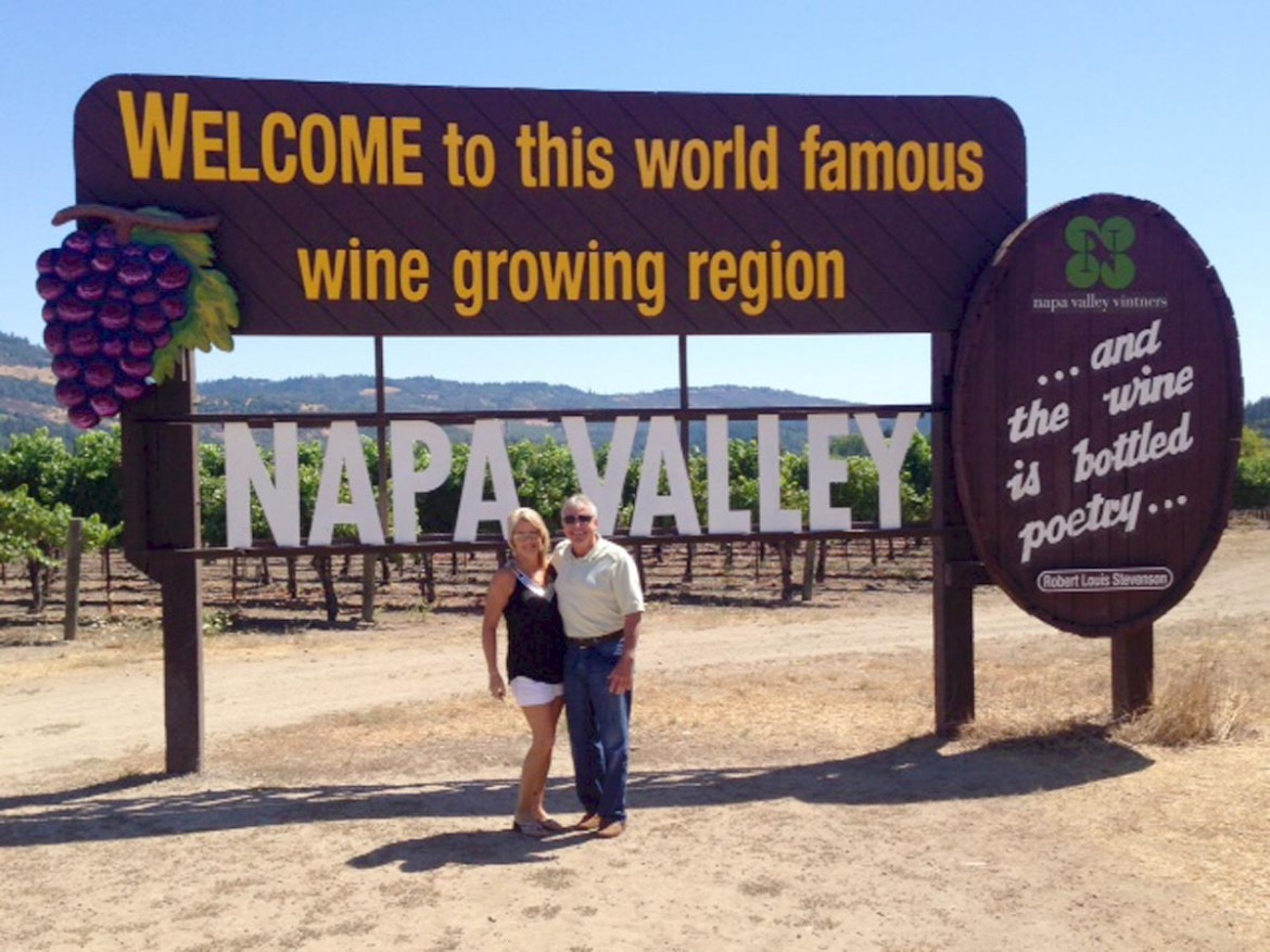 Mobile's Bobby Smith and Vonda Edmiston pictured the weekend of the Napa earthquake.
