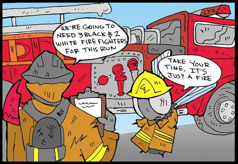 Political correctness hits the fire department.
