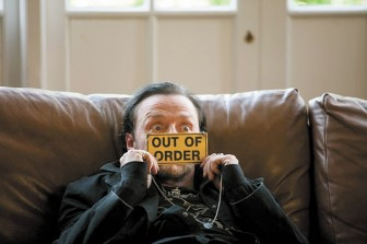 """Simon Pegg stars in """"The World's End"""" as Gary King, a  depressed adult confronting the approach of middle age."""