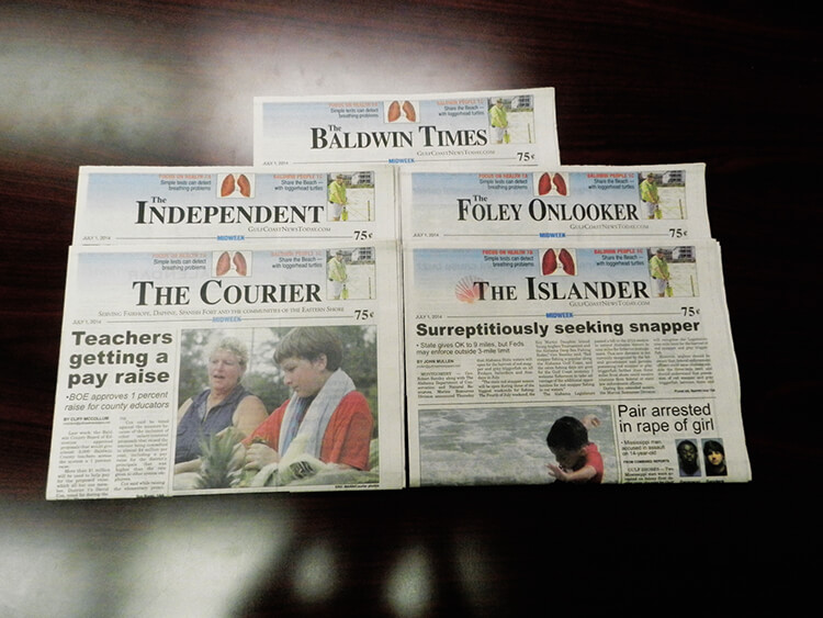 Five Baldwin newspapers under new ownership