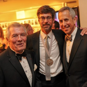 James Beard award-winning Chef Chris Hastings (center) with Jacques Pepin and Danny Meyer.