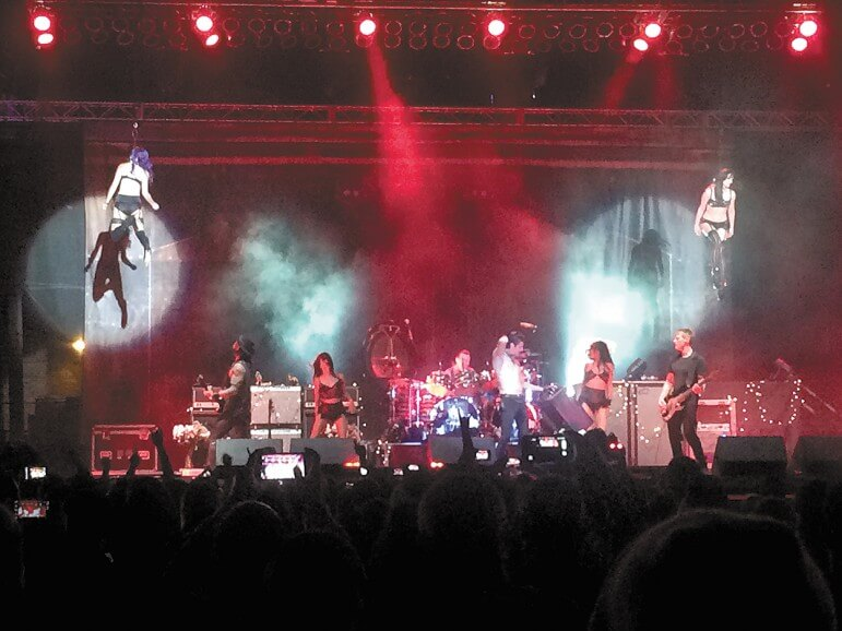 Jane's Addiction's performance at BayFest featured a burlesque suspension show.