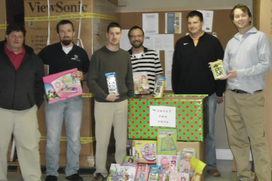 ITS employees support Mobile's Toys for Tots annual drive