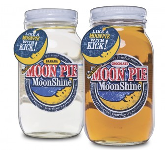 Banana and chocolate flavored Moon Pie MoonShine.