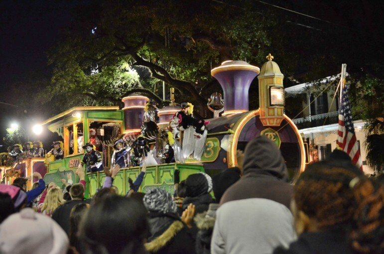 The Conde Cavaliers parade through downtown Mobile on Jan. 30, 2014.