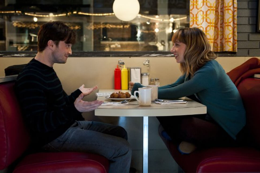 Daniel Radcliffe and Zoe Kazan are engaging in the quirky romantic comedy 'What If,' now available on DVD or streaming services.