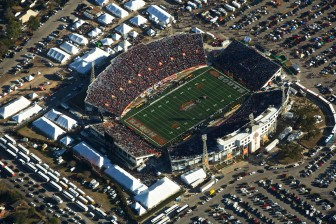 Around 40,000 people attending the 2014 Reese's Senior Bowl in Mobile last year.