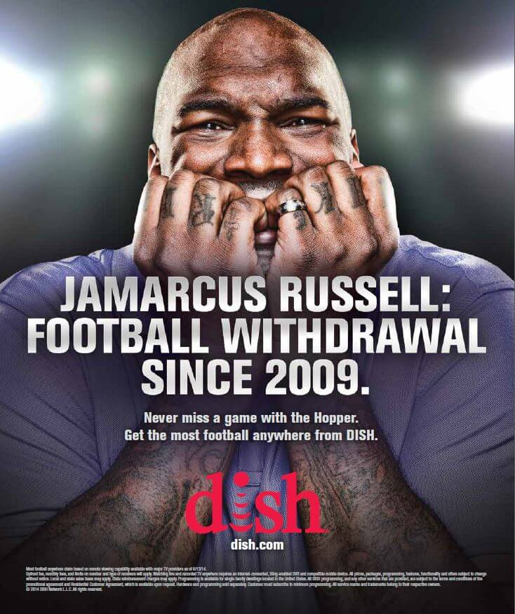 JaMarcus Russell from pigskin to tater skins