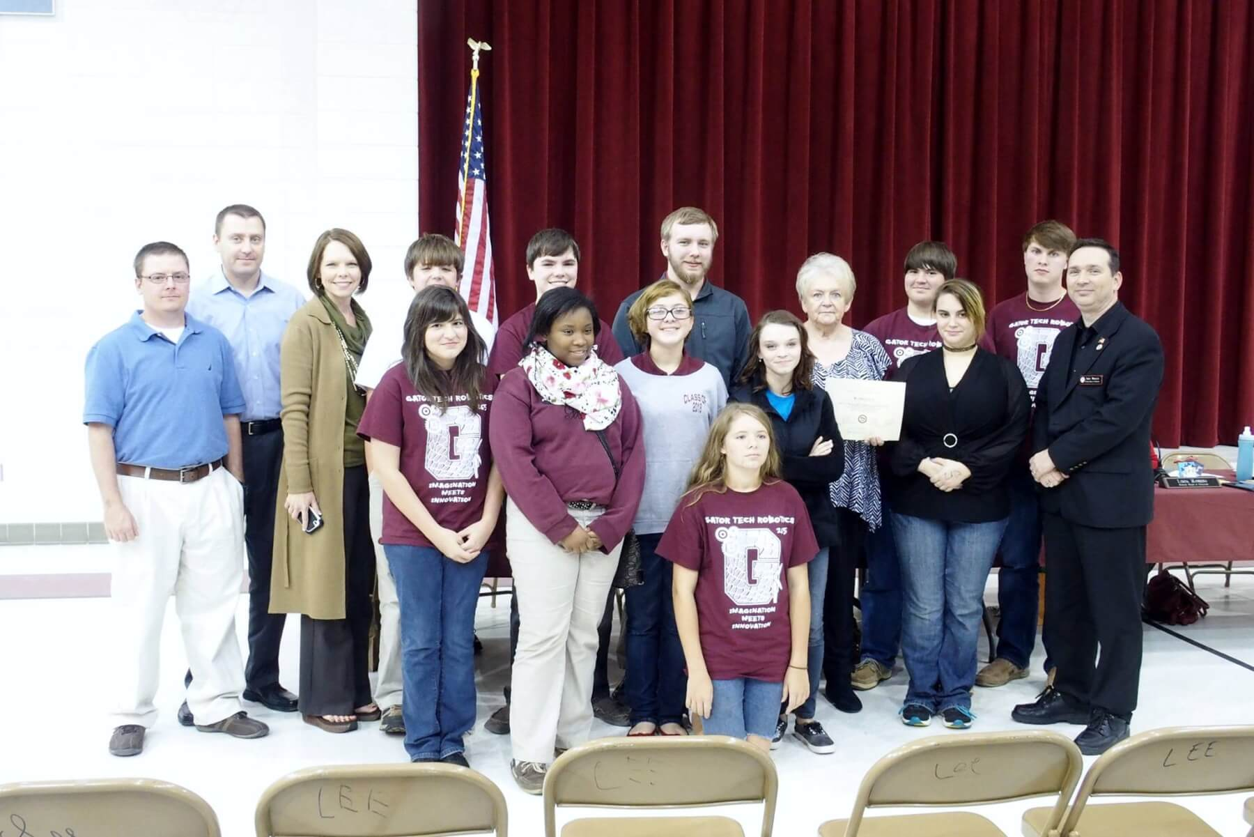 Satsuma High Robotics Team gets donation
