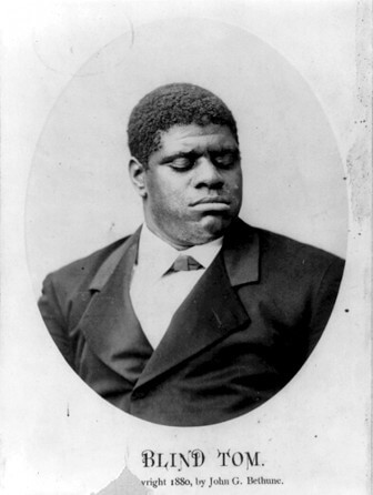 "Pianist ""Blind Tom"" Wiggins."