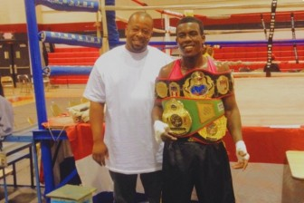 Local boxer Keon Burroughs (right) has been fighting for almost eight years.