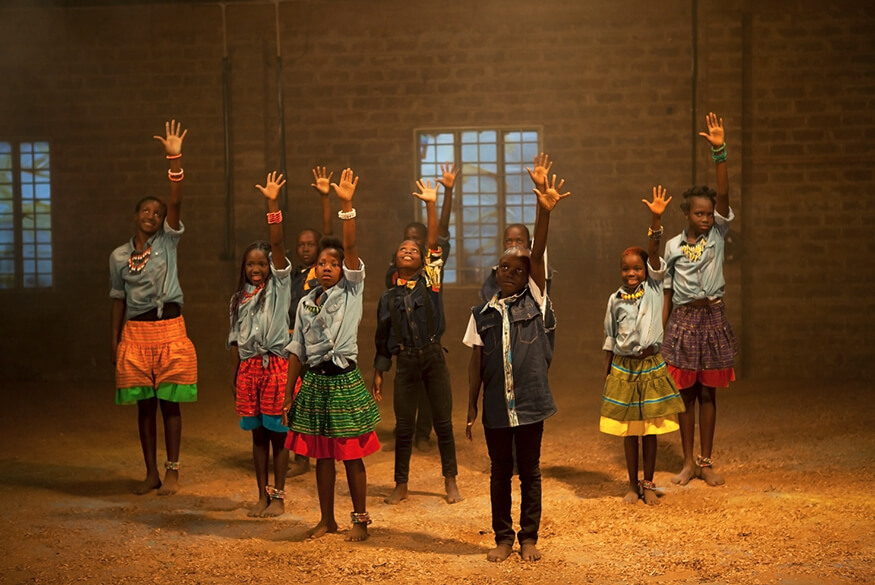 Children's choir are Ugandan missionaries