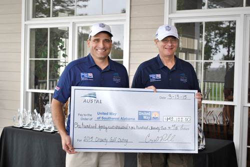 Austal charity golf tournament raises $142,122 for United Way