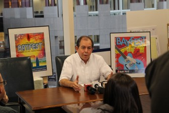 BayFest Director Bobby Bostwick at a press conference last week.