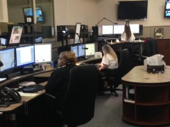 Mobile County Sheriff's Office dispatchers work within the Mobile County Communications District.