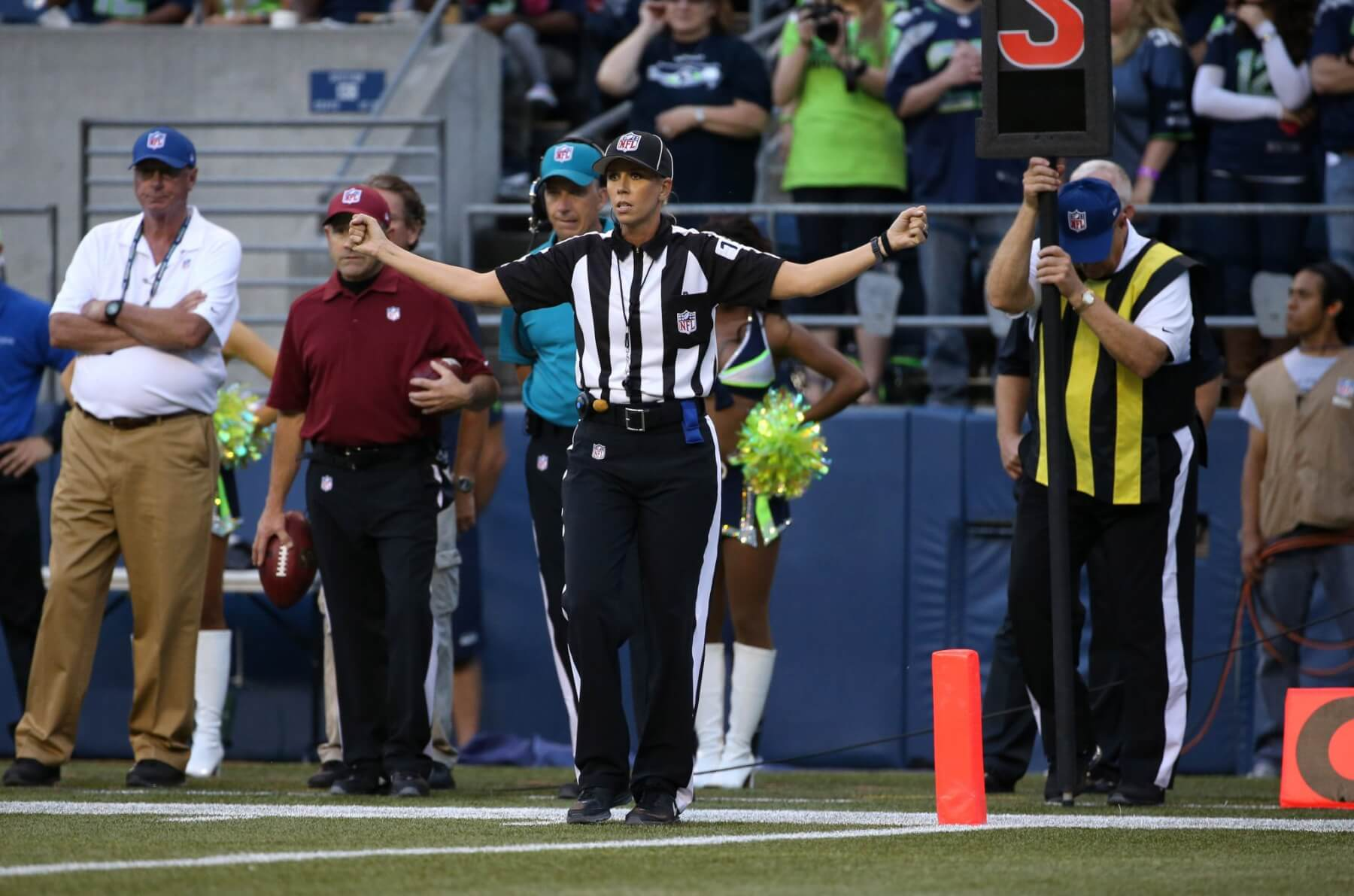 Former Lady Ram basketball star named NFL's first female official