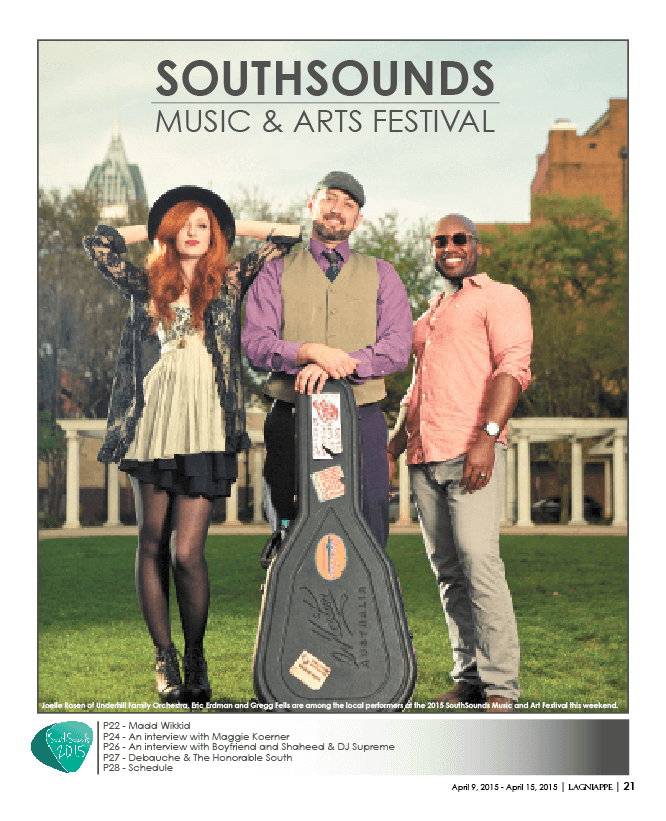 2015 SouthSounds Music and Arts Festival guide – April 10-12 in Downtown Mobile