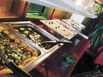 Istanbul Grill on Airport Boulevard offers both a buffet and menu items a la carte.
