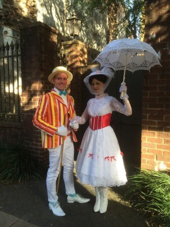 Jasyn Fowler and Stacey Driskell portray Mary Poppins and Bert.