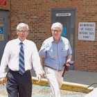 Michael Hickman and Brett Dungan leave the Mobile Metro Jail earlier this year.